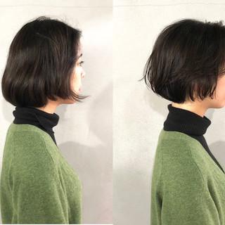 ボブ 簡単 ワンカール ナチュラル ヘアスタイルや髪型の写真・画像