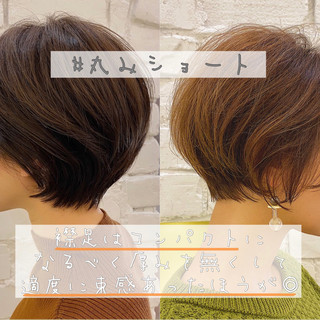 ショートヘア ショートボブ ベリーショート ミニボブ ヘアスタイルや髪型の写真・画像