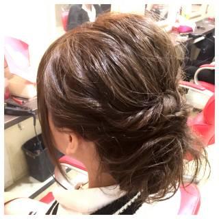 ねじり コンサバ モテ髪 ヘアアレンジ ヘアスタイルや髪型の写真・画像