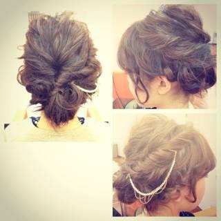アップスタイル ゆるふわ ヘアアレンジ ガーリー ヘアスタイルや髪型の写真・画像