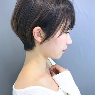 大人かわいい 簡単スタイリング ショート ナチュラル ヘアスタイルや髪型の写真・画像