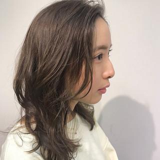 デート オフィス セミロング ナチュラル可愛い ヘアスタイルや髪型の写真・画像