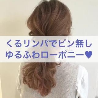大人かわいい ヘアアレンジ ポニーテール ナチュラル ヘアスタイルや髪型の写真・画像 ヘアスタイルや髪型の写真・画像