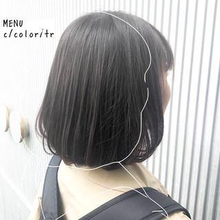 前髪 髪質改善 ストレート グレージュ ヘアスタイルや髪型の写真・画像