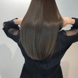 イルミナカラー 髪質改善 髪質改善カラー ナチュラル ヘアスタイルや髪型の写真・画像