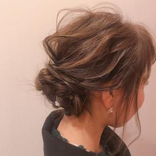 フェミニン ヘアアレンジ 結婚式 オフィス ヘアスタイルや髪型の写真・画像 ヘアスタイルや髪型の写真・画像
