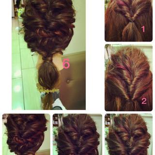 簡単ヘアアレンジ ローポニーテール ショート セミロング ヘアスタイルや髪型の写真・画像 ヘアスタイルや髪型の写真・画像