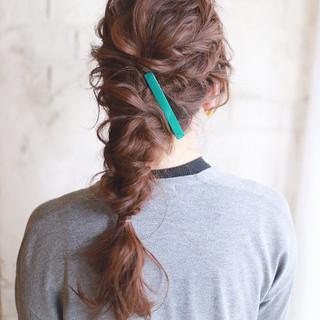 ショート アッシュ ロング 簡単ヘアアレンジ ヘアスタイルや髪型の写真・画像
