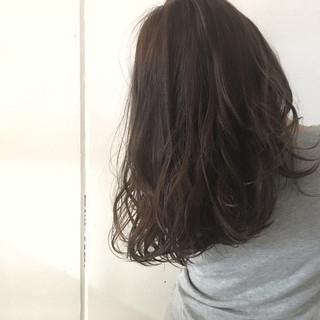フェミニン 外国人風 グラデーションカラー セミロング ヘアスタイルや髪型の写真・画像