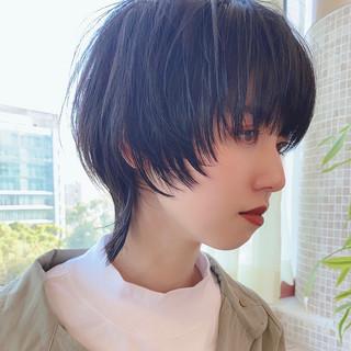 暗髪女子 大人かわいい デート ショート ヘアスタイルや髪型の写真・画像