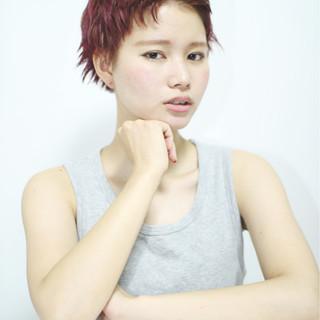大人女子 モード 暗髪 ウルフカット ヘアスタイルや髪型の写真・画像