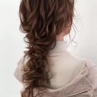 セミロング ゆるナチュラル アンニュイほつれヘア ヘアアレンジ ヘアスタイルや髪型の写真・画像