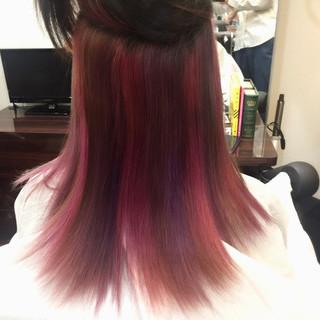 ガーリー ダブルカラー ブリーチ インナーカラー ヘアスタイルや髪型の写真・画像