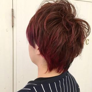 モテ髪 坊主 ショート レッド ヘアスタイルや髪型の写真・画像