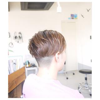 ナチュラル ショート 坊主 ボーイッシュ ヘアスタイルや髪型の写真・画像