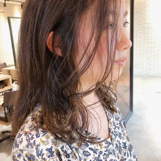 ロング デジタルパーマ ハイライト 地毛ハイライト ヘアスタイルや髪型の写真・画像