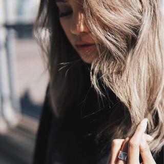 ガーリー ミディアム 外国人風カラー アンニュイ ヘアスタイルや髪型の写真・画像 ヘアスタイルや髪型の写真・画像