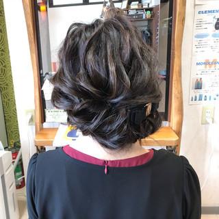 シニヨン 結婚式 ロング ヘアアレンジ ヘアスタイルや髪型の写真・画像 ヘアスタイルや髪型の写真・画像