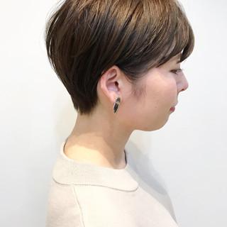 ショート ナチュラル デート ショートヘア ヘアスタイルや髪型の写真・画像