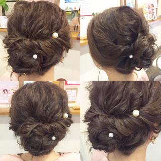 フェミニン ヘアアレンジ 結婚式 大人かわいい ヘアスタイルや髪型の写真・画像 ヘアスタイルや髪型の写真・画像