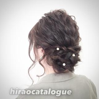ゆるふわ 大人かわいい セミロング ロープ編み ヘアスタイルや髪型の写真・画像