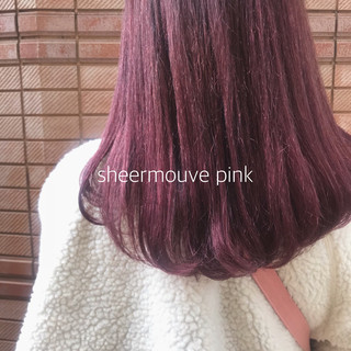 ベリーピンク ピンク 外国人風カラー ヘアカラー ヘアスタイルや髪型の写真・画像