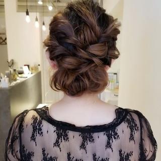 デート ナチュラル ヘアアレンジ 結婚式 ヘアスタイルや髪型の写真・画像