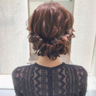 大人可愛い エレガント ギブソンタック 結婚式 ヘアスタイルや髪型の写真・画像