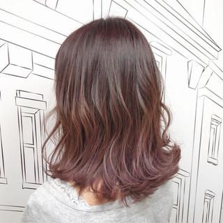 ピンク 外国人風カラー バレイヤージュ トワイライト ヘアスタイルや髪型の写真・画像 ヘアスタイルや髪型の写真・画像