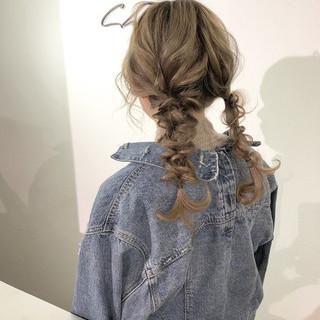 ガーリー ツインテール 簡単ヘアアレンジ デート ヘアスタイルや髪型の写真・画像 ヘアスタイルや髪型の写真・画像
