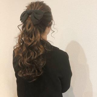 フェミニン ヘアセット ブライダル ヘアアレンジ ヘアスタイルや髪型の写真・画像