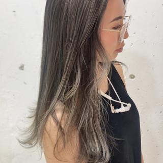 アッシュ モード ハイライト グラデーションカラー ヘアスタイルや髪型の写真・画像