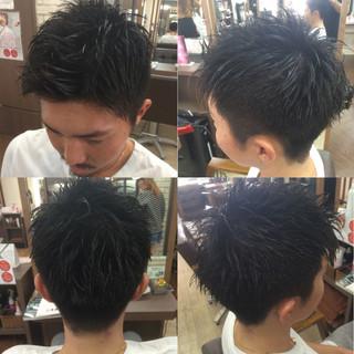 春 ストリート 黒髪 ショート ヘアスタイルや髪型の写真・画像