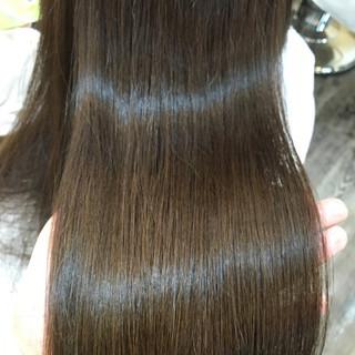 ロング マット アッシュグレー 外国人風カラー ヘアスタイルや髪型の写真・画像