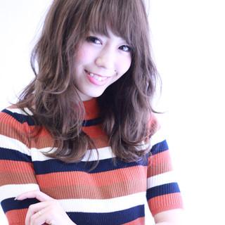 ロング 暗髪 パーマ アッシュ ヘアスタイルや髪型の写真・画像