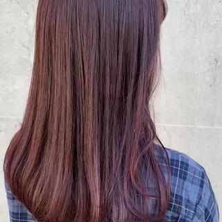 ナチュラル ブルーラベンダー ピンクパープル ラベンダーピンク ヘアスタイルや髪型の写真・画像