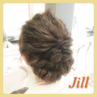 フィッシュボーン 結婚式 ヘアアレンジ ショート ヘアスタイルや髪型の写真・画像