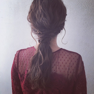 ヘアアレンジ アンニュイほつれヘア ロング ナチュラル ヘアスタイルや髪型の写真・画像
