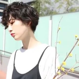 ショート マッシュショート PEEK-A-BOO 似合わせカット ヘアスタイルや髪型の写真・画像