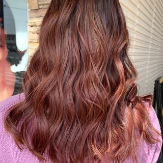 ピンクベージュ ピンク ガーリー ピンクブラウン ヘアスタイルや髪型の写真・画像