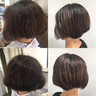 モード ミニボブ ベリーショート ショートボブ ヘアスタイルや髪型の写真・画像