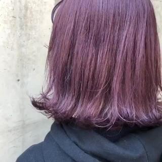 ストリート ミディアム ラベンダーアッシュ 外国人風カラー ヘアスタイルや髪型の写真・画像