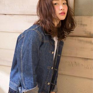 夏 ミディアム 春 ストリート ヘアスタイルや髪型の写真・画像