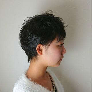 くせ毛風 ナチュラル 大人かわいい ショート ヘアスタイルや髪型の写真・画像 ヘアスタイルや髪型の写真・画像