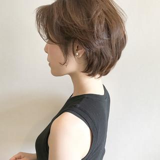 大人かわいい ナチュラル ショート 透明感 ヘアスタイルや髪型の写真・画像