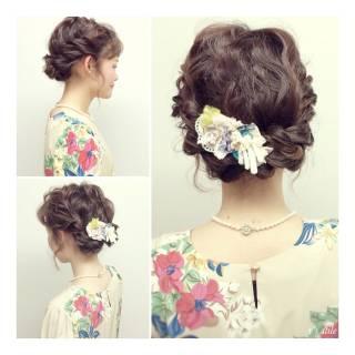 結婚式 春 ストリート アップスタイル ヘアスタイルや髪型の写真・画像 ヘアスタイルや髪型の写真・画像