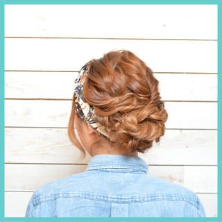 編み込み アップスタイル ねじり 大人かわいい ヘアスタイルや髪型の写真・画像