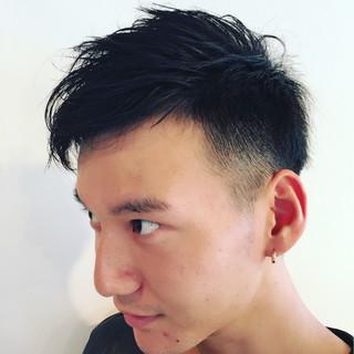 ボーイッシュ パーマ ショート 黒髪 ヘアスタイルや髪型の写真・画像