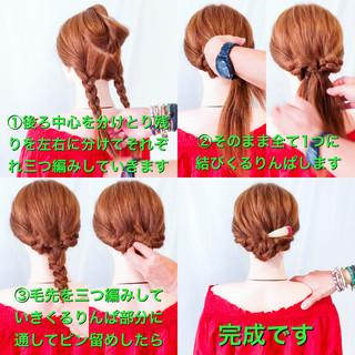 簡単ヘアアレンジ くるりんぱ エレガント ヘアアレンジ ヘアスタイルや髪型の写真・画像 ヘアスタイルや髪型の写真・画像