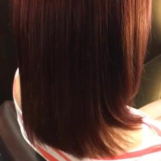 ミディアム ガーリー ラベンダーピンク ピンク ヘアスタイルや髪型の写真・画像